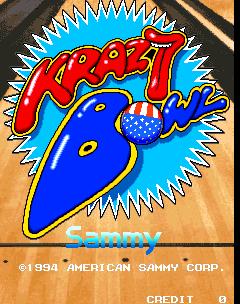 Krazy Bowl (ARC)  © Sammy 1994   1/3