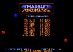 Marble Madness (ARC)  © Atari Games 1984   1/5