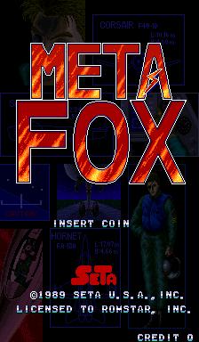 Meta Fox (ARC)  © SETA 1989   1/4