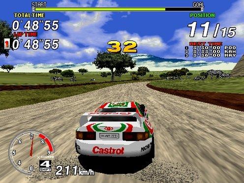 Sega Rally Championship (ARC)  © Sega 1995   5/5