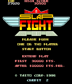 Slap Fight (ARC)  © Taito 1986   1/4