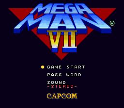 Mega Man 7 (SNES)  © Capcom 1995   1/12