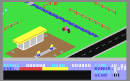 Action Biker (C64)   © Mastertronic 1985    2/2