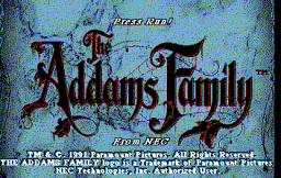 Addams Family, The (Icom) (PCCD)   © Turbo Technologies 1991    1/4
