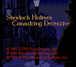 Sherlock Holmes: Consulting Detective (PCCD)  © Interchannel 1991   1/4