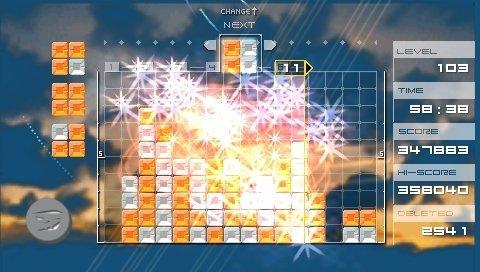 Lumines (PSP)  © Bandai 2004   5/6
