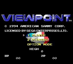 Viewpoint (SMD)  © Sammy 1994   1/3