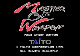 Master Of Weapon (SMD)  © Taito 1991   1/3