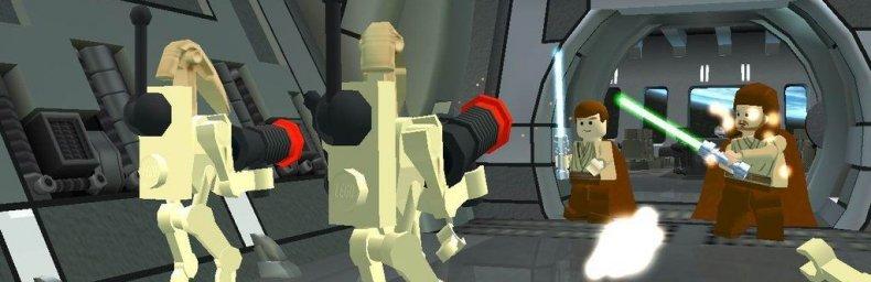 """<h2 class='titel'>Lego Star Wars</h2><div><span class='citat'>""""Genopliver lige en gammel tråd (Wow ... 2005).  Der kommer ny samlet LEGO Star Wars: The Skywalker Saga, som iflg. informationen indeholder alle film.  Personlig håber jeg (meget!) at banerne fra 1 - 6 er de samme som i...""""</span><span class='forfatter'>- millennium</span></div>"""