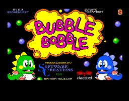 Bubble Bobble (AMI)  © Firebird 1987   1/3