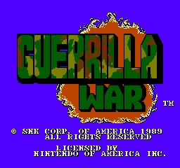 Guerrilla War (NES)  © SNK 1988   1/3