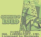 Adventures Of Lolo (1994) (GB)  © Nintendo 1994   1/3