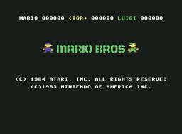 Mario Bros. (C64)  © Atari Corp. 1984   1/3