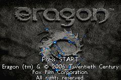 Eragon (GBA)  © VU Games 2006   1/4