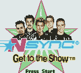 *NSYNC: Get To The Show (GBC)  © Infogrames 2001   1/3