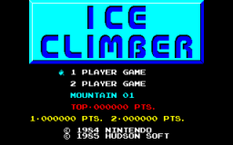 Ice Climber (PC88) &nbsp; &copy; Hudson 1985 &nbsp;  1/3