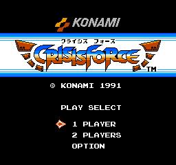 Crisis Force (NES)  © Konami 1991   1/3