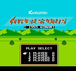 Hyper Sports (NES)  © Konami 1985   1/3