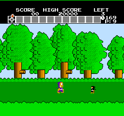 Ninja Hattori-Kun (NES)  © Hudson 1986   2/3