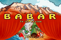 Babar To The Rescue (GBA)   © Game Factory 2006    1/3