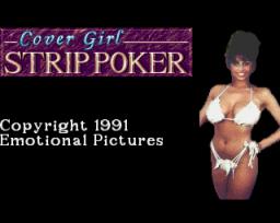 Cover Girl Strip Poker (AMI)  © On-Line 1991   1/3