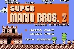 Super Mario Bros. 2 (1986) (GBA)  © Nintendo 2004   1/3