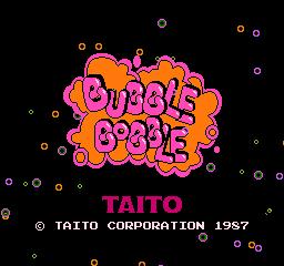 Bubble Bobble (FDS)  © Taito 1987   1/3