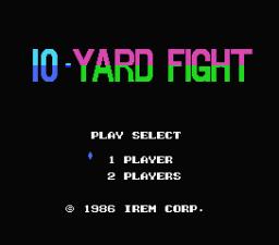 10-Yard Fight (MSX)  © Irem 1986   1/3