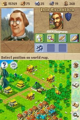 Anno 1701: Dawn Of Discovery (NDS)  © Disney Interactive 2007   1/8