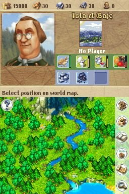 Anno 1701: Dawn Of Discovery (NDS)  © Disney Interactive 2007   2/8