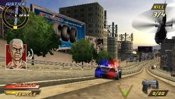 Pursuit Force: Extreme Justice (PSP)   © Sony 2007    2/3