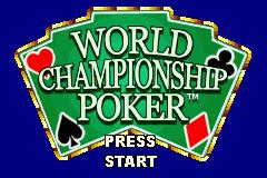 World Championship Poker (GBA)  © Crave 2004   1/3