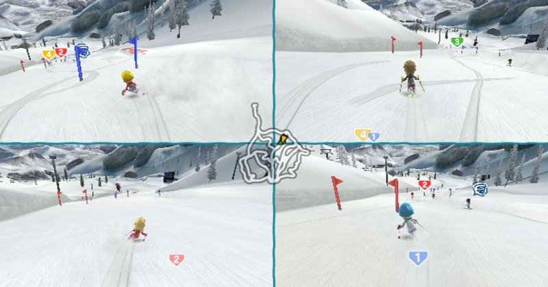 Family Ski & Snowboard  © Bandai Namco 2009  (WII)   5/5