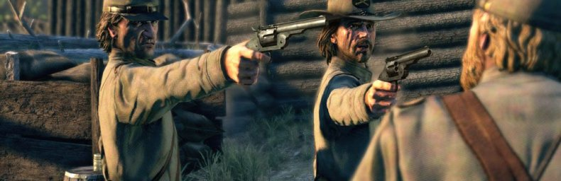 <h2 class='titel'>Call Of Juarez: Bound In Blood</h2><h2 class='score'>6/10</h2><div><span class='citat'>&bdquo;Habilt FPS i stemningsfyldte westernomgivelser. OK grafik og lyd. Dden har ingen konsekvens pga. for hyppige checkpoints (isr rgeligt i dueller). Rockstars Red Dead-serie er langt bedre.&ldquo;</span><span class='forfatter'>- Xiwana</span></div>