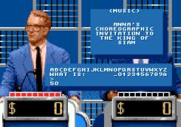 Jeopardy! (SMD)  © GameTek 1992   2/2