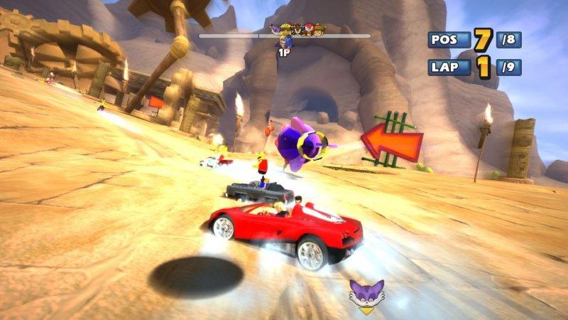 Sonic & Sega All-Stars Racing (PS3)  © Sega 2010   4/8