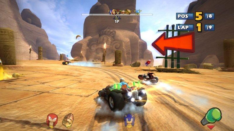 Sonic & Sega All-Stars Racing (PS3)  © Sega 2010   5/8