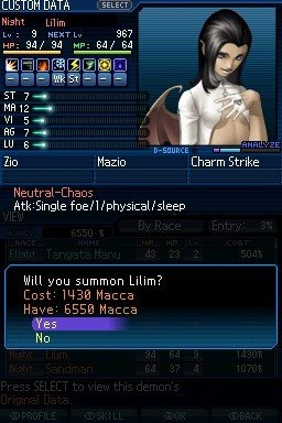Shin Megami Tensei: Strange Journey (NDS)  © Atlus 2009   6/6