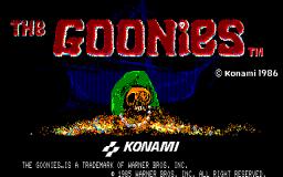 The Goonies (X1)  © Konami 1986   1/3