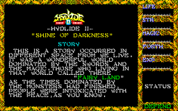 Hydlide II: Shine Of Darkness (X1)   © T&E Soft 1986    1/3