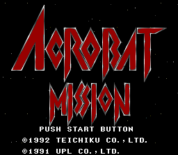 Acrobat Mission (SNES)  © Teichiku 1992   1/3