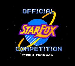 Starwing: Super Weekend  © Nintendo 1993  (SNES)   1/3