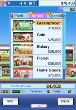 Mega Mall Story (IP)  © Kairosoft 2011   3/3