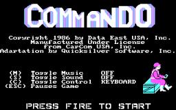 Commando (PC)  © Data East 1986   1/3