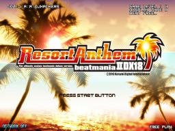 Beatmania IIDX 18: Resort Anthem (ARC)  © Konami 2010   1/4