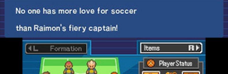 <h2 class='titel'>Inazuma Eleven</h2><h2 class='score'>6/10</h2><div><span class='citat'>&bdquo;Ikke det mest vellykkede sports-RPG, men trods det simple gameplay og en urimelig mængde fyld, drives man alligevel frem til at få gennemført historien og skabt retfærdighed. Potentialet er der!&ldquo;</span><span class='forfatter'>- quad</span></div>