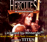 Hercules: The Legendary Journeys (GBC)  © Titus 2001   1/3