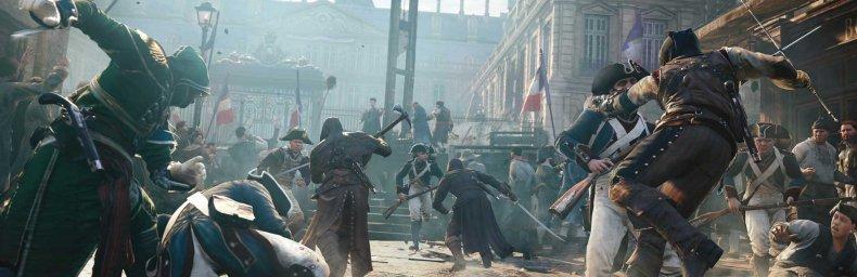 <h2 class='titel'>Assassin's Creed: Unity</h2><h2 class='score'>6/10</h2><div><span class='citat'>&bdquo;Fin setting, Paris er levende og detaljeret lavet. Stealth og kamp-systemerne moderniseret, og de åbne missioner er udmærkede. En halv-kedelig historie og ufærdigt parkour-system trækker spillet ned&ldquo;</span><span class='forfatter'>- Beano</span></div>