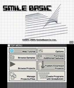 SmileBASIC (3DS)   © SmileBoom 2014    1/3