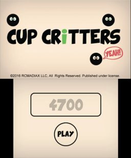 Cup Critters (3DS)   © RCMADIAX 2016    1/3